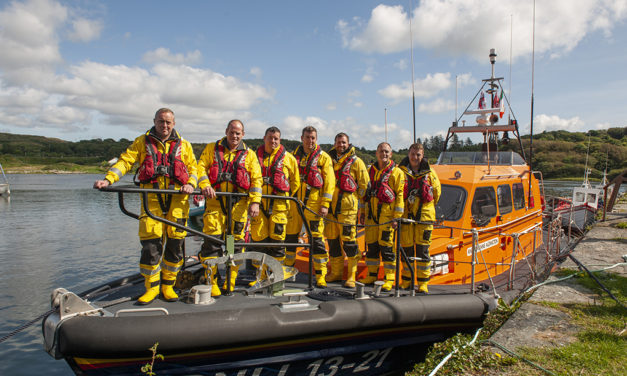 RNLI team pushes the boat out